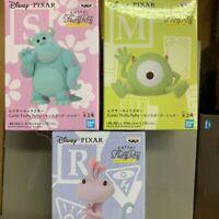 "Disney Pixar Character Cutte Fluffy Puffy Figure Monsters Inc  3 Set  5cm (1.9"")"