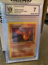Pokemon 1st Edition Team Rocket Charmander 50/82 Near Mint 7!