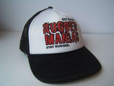 Rugged Maniac Hat Black Snapback Trucker Cap