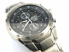 Gents Rare Vintage Seiko 7T92-0HR0 Titanium Chrono Alarm- 100m