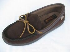 L.B. Evans Mens Shoes NEW $55 Atlin Chocolate Brown Moc Slippers 8 M