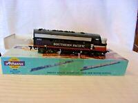 HO Scale Athearn Southern Pacific F7 Black Widow #6463 Locomotive Blue Box