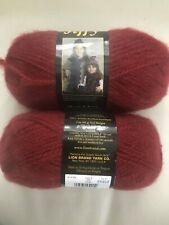"Lion Brand Jiffy Yarn Lot of 2 Skeins ""Chili"" Same Dye Lot"