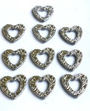 Herz mit Glocke Tischdekoration Kirchendeko Hochzeit Taufe silber 13 x 13 cm