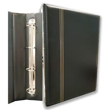 4 D-Ring Coin Album With 10 Clear Plastic 3-Pocket Pages Suit RAM's Carded Coins