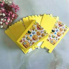 6Pcs/Set Mini Emoji Theme Paper Popcorn Boxes Birthday Movies Party Supplies
