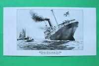UM6) Marine Hilfskreuzer METEOR sprengt sich selbst 1914-1918 Engelien 1.WK WWI