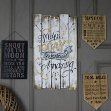 White wooden quote wall plaque Make Today Amazing shabby vintag chic home gift