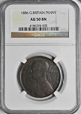 1886 Penny Great Britain NGC AU-50 KM #755