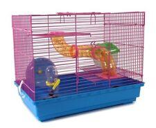 3 Level Hamster Cage Wheel Tubes House Rodents Gerbil Rat Mice Trail Habitat