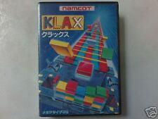 SEGA MD 16-BIT KLAX GAME    (USED)
