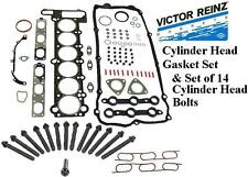 BMW 323I 328I 528I Z3 Cylinder Head Gasket Set & Head Bolt Set  M52 OEM REINZ