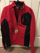 NWT New Spyder Red Black Bandit Half Zip Men's Small Skiing Jacket #417037