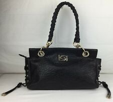 Bebe Pebbled Leather Gold Chain Roped Strap Strappy Shoulder Bag Purse Medium