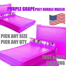 Purple Grape Poly Bubble Mailers Padded Envelope Protective Packaging Pouch Bags