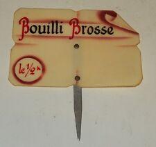 Ancienne ETIQUETTE BOUCHERIE CHARCUTERIE : BOUILLI BROSSE