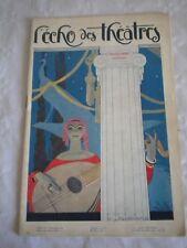 Vintage Programme Theatre Apollo 1920s Matricule 33 Art Deco Entertainment Memorabilia Playbills