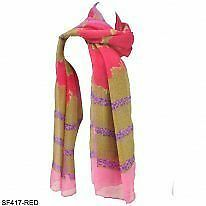 Scarf Chiffon Unbranded Striped Scarves & Shawls for Women