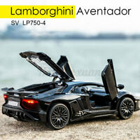 LP750 Car Alloy Diecast Model Toy Sound Light Pull Back Vehicles Collection Kid
