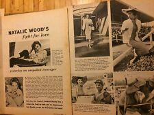 Natalie Wood, Two Page Vintage Clipping