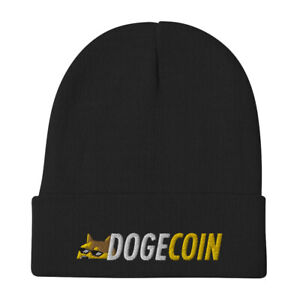 Dogecoin Thug Beanie doge coin crypto trader gift embroidery winter fall hat