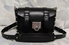 Michael Kors Manhattan - Small Black Leather Crossbody with Silver Hardware