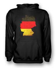 German Germany flag Map - Mens Hoodie