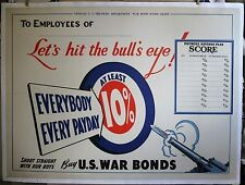 Everybody Every Payday  1942 29 1/2 X 40+ . linen mounted .original poster WWII