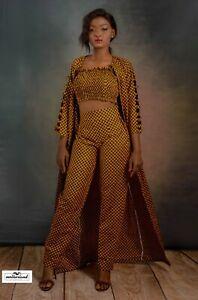 Queen 3 piece outfit,Ankara fashionista,Elegant design,modern style,classy look