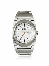 NEW Nixon Men's The Don Silver/White Stainless Steel Watch (A358-100)