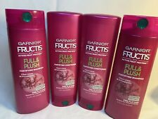 GARNIER FRUCTIS Full & Plush Fortifying 2 SHAMPOO 2 CONDITIONER 12oz  Fine Hair