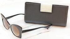 New Authentic Face A Face Sunglasses Punk Her 4 100 Black Satin Plastic Italy