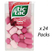 TIC TAC STRAWBERRY FIELDS 18g x 24 INDIVIDUAL PACKS MINTS WHOLESALE 132462