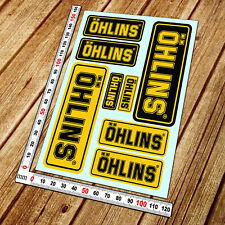 Ohlins shocks sponsor decals set sheet 8 motorcycle sticker superbike