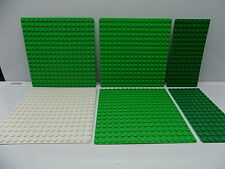 Lego 6 pc. Studded Base Plate,s Lot Green {WASHED} {These are the thin plates}