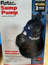 Flotec FP0S3250A Automatic Sump Pump, 1/2HP, 3630 GPH