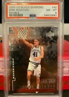 1998 UD BLACK DIRK NOWITZKI DOUBLE DIAMOND #92 RC ROOKIE /2500 PSA 8 *POP 17*