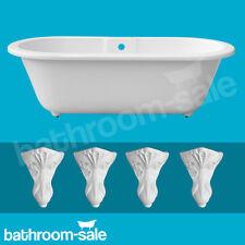 Cambridge Roll Top Freestanding Bath 1690 x 780 White Resin Bath Feet | RRP £699