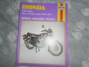 HAYNES MANUAL HONDA CB750 FOURS 1979 new