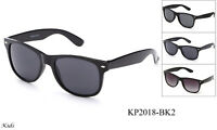 Kids Sunglasses Retro Black Frame Boys Girls UV 100% Lead Free FDA Approved