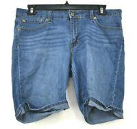 Levis Signature Womens Shorts Cotton Stretch Blend Cuffed Pockets Belt Loops 16
