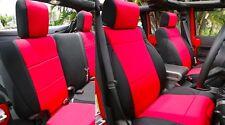 Jeep Wrangler 2011-14 custom neoprene front rear seat cover 4 door Red YES4drd