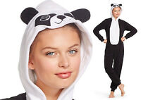 Hooded PANDA BEAR Fleece Pajamas XL Woman Union Suit Costume Adult One Piece