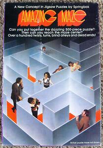 Amazing Maze by R Koenig Springbok 500+ Piece Jigsaw Puzzle Complete w/ Overlay