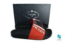 New In Box Authentic PRADA Mens Slides Slippers Sz US12 EU45 UK11 Model 4X3204