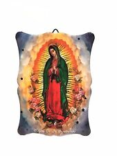"4.25"" Inch Virgen de la Guadalupe Religious wall and table plaque plate virgin"