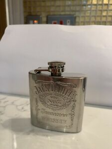Jack Daniels Stainless Steel Hip Flask Brand New, FREE POSTAGE!