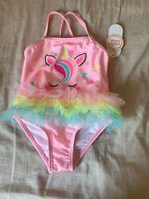 Size 6-9 Months Wonder Nation Gumball Pink Unicorn Tutu Swimsuit Swim Suit New
