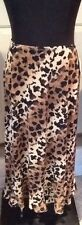 Good Clothes Animal Print Skirt Size Medium Travel No Wrinkle Ruffle Leopard