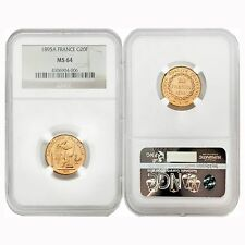 France 1895A Angel Writing 20 Francs Gold NGC MS64